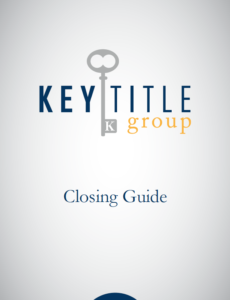 Key Title Group Closing Guide